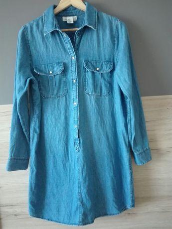 Sukienka jeans H&M 42-44 BDB kolor blu