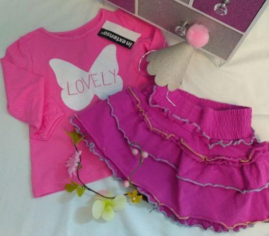 Przepiękna spódniczka + bluzeczka - 80 / Coccodrillo