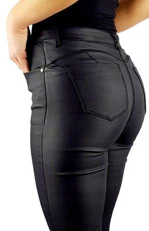 Spodnie Damskie skóra Woskowane Push up PROMOCJA RÓŻNE ROZMIARY