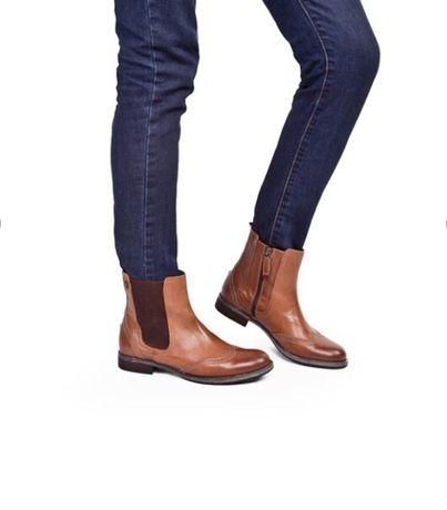 Кожаные Челси tommy hilfiger оригинал коричневые ботинки полусапожки