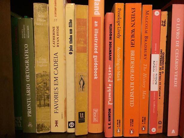 Vários livros. Literatura portuguesa.