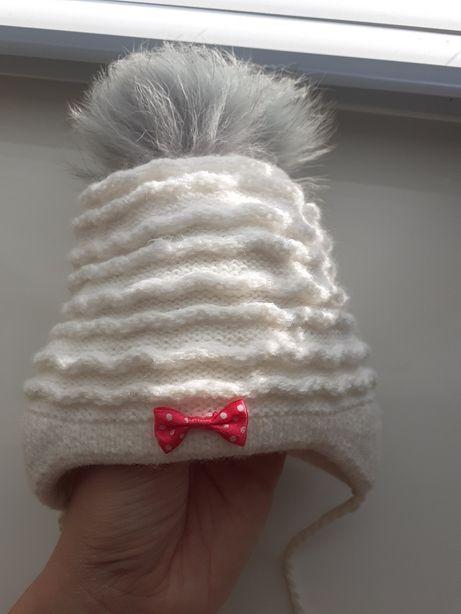 Демисезон шапочка для новорожденного весенняя шапка весна на выписку