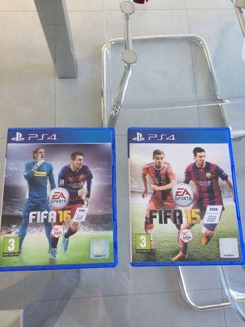 jogos ps4 Fifa 15 e Fifa 16