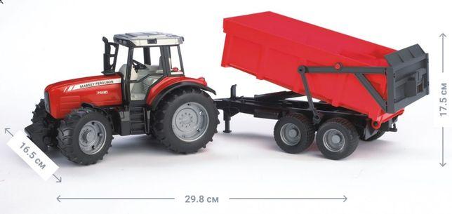 Трактор Bruder с прицепом-самосвалом
