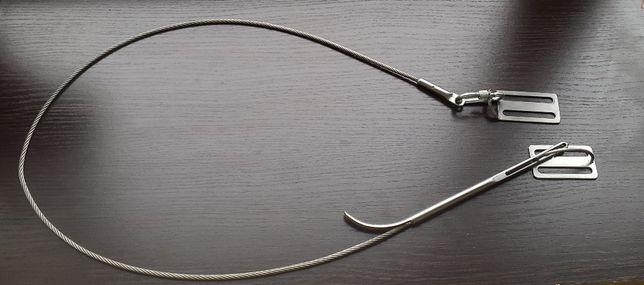 Кукан для подводной охоты на тросу с двумя Д-кольцами