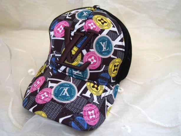 Louis Vuitton damska czapka z daszkiem kolorwe wzory bejsbolówka