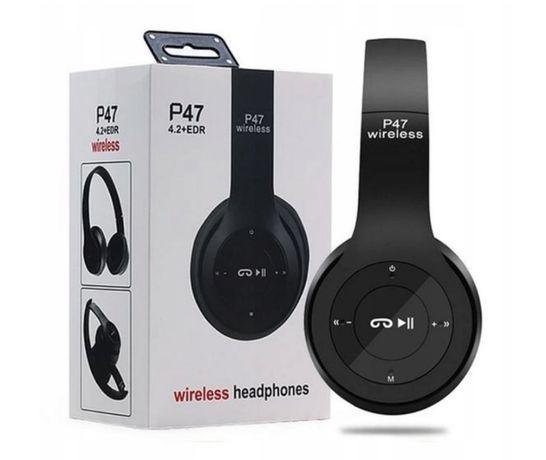 Słuchawki bluetooth bezprzewodowe MP3 Mikrofon radio czytnik kart