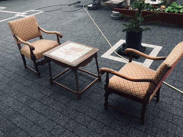 fotele +ława antyk