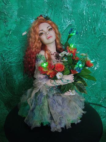 """Ночник """"Я весна"""" авторская кукла"""