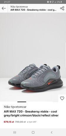Do dzis- Sneakersy Nike Air Max 720. Nowe 38.5 uniseks- OPIS