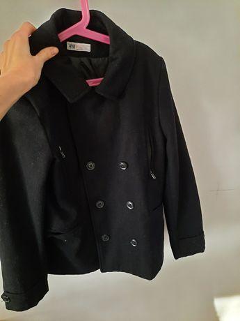 Czarny płaszcz z H&M rozmiar 152