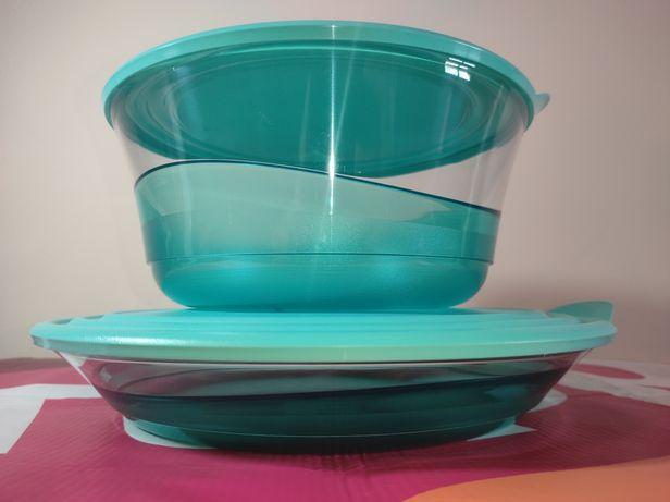 Tupperware - Saladeira + Prato Elegância