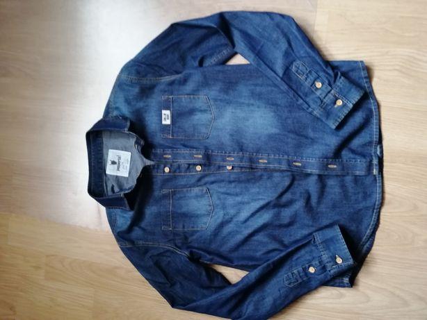 Koszula jeansowa chłopięca 152 cm