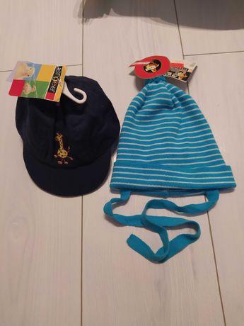 Nowe czapki z metkami dla chłopca Ergee