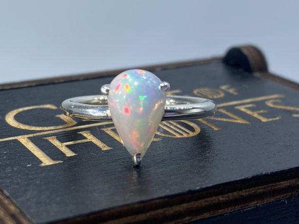 Уникальное Серебряное кольцо с натуральным опалом Серебро 925