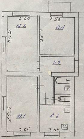 Продажа 3-х комнатной квартиры в г. Каменское (Днепродзержинск)