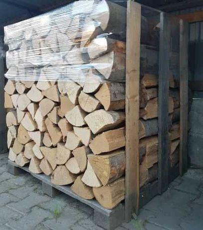 SUCHE sezonowane drewno kominkowe opałowe drzewo BUK opał do kominka