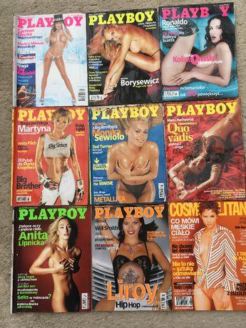 magazyn playboy 2001 rok 2002 rok 9szt 9 egzemplarzy