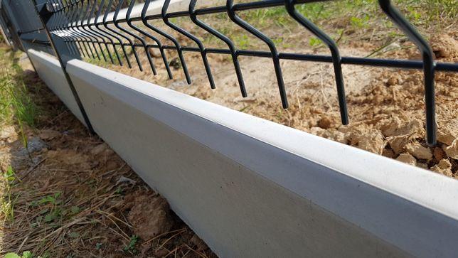 Podmurówka betonowa biała