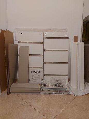 2 Cómodas Brancas MALM (Ikea) NOVAS - Nunca foram montadas