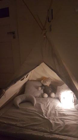 Namiot Tipi ,,Kłapouchy,, z okienkiem i matą - jak NOWY