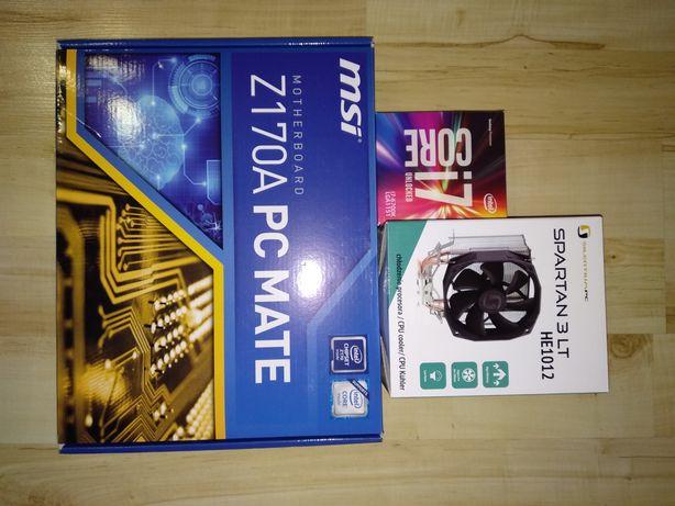Intel i7-6700k + Msi Z170A PC MATE + Chłodzenie