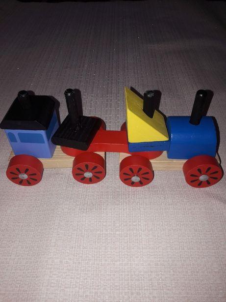 Деревянный конструктор паравозик поезд Германия оригинал