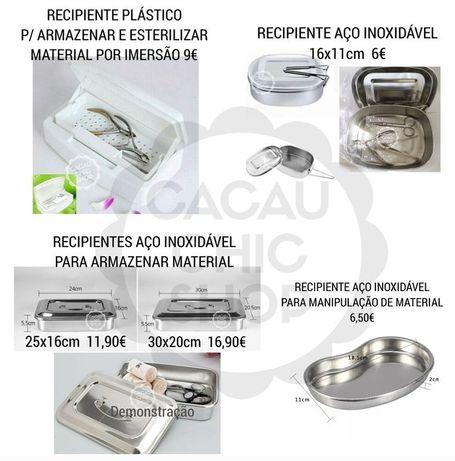 Recipientes Esterilização Inox Estética Unhas de Gel Micropigmentação