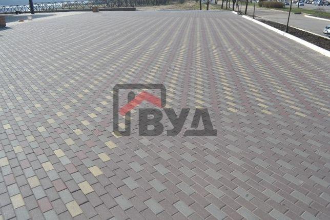 Тротуарная плитка Кирпичик 45 мм, 60 мм, 80 мм