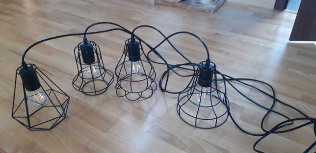 Lampa sufitowa loft czarna