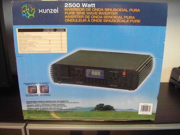 Conversor 12v 220v 2500 W Onda Pura c/comando, c/novo