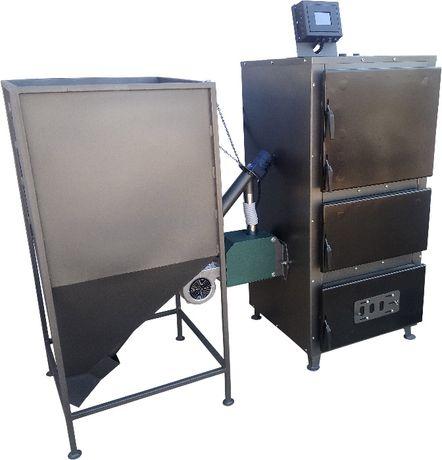 Пеллетный котел METALEX 30 кВт твердотопливный котел, пеллетная горелк