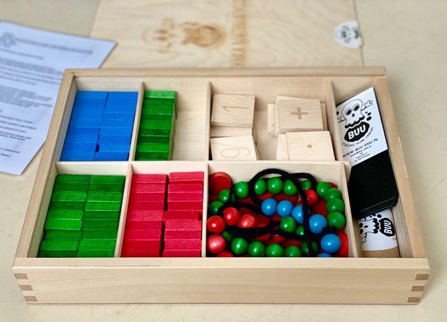 BUU Skrzynka matematyczna Montessori, pomoc edukacyjna, znaczki