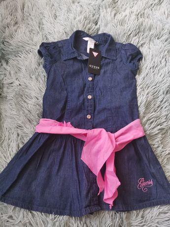 Sukienka Tunika Guess nowa metki  jeans 4T  104cm 110cm pasek chusta
