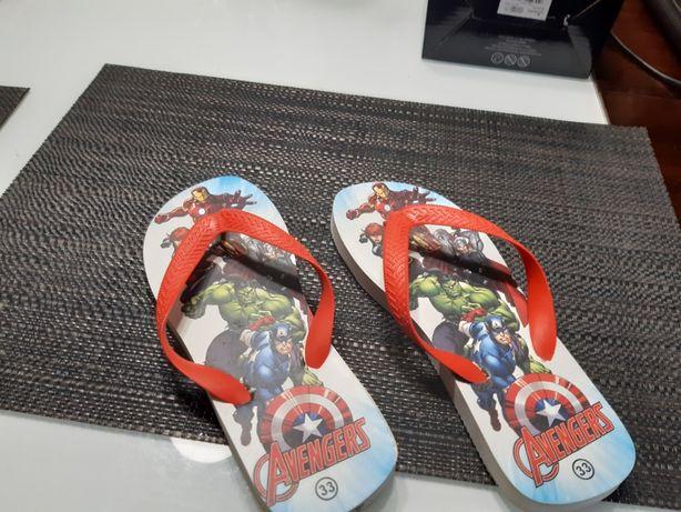 Klapki japonki Avengers r.33 Nowe!!!