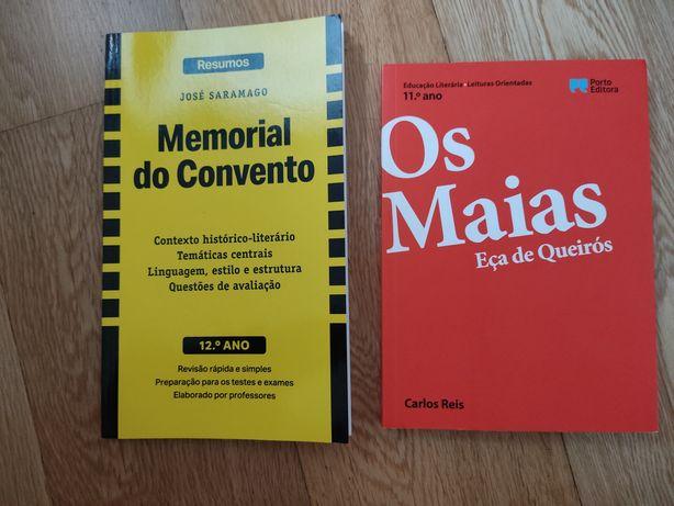 """Resumos de """"Os Maias"""" e do """"Memorial do Convento"""""""