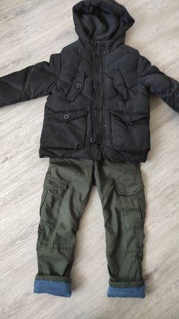 Zestaw Kurtka Zara spodnie Hm