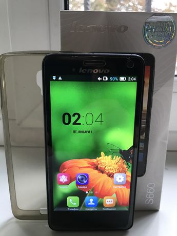 Смартфон Lenovo S660 + силиконовый чехол