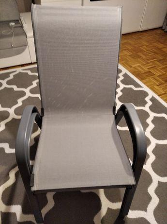 Krzesło ogrodowe metalowe fotel taras balkon ogród.