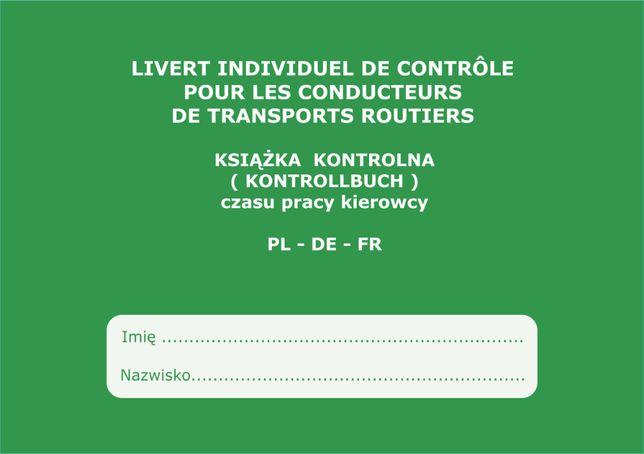 Książka czasu pracy kierowcy PL - DE - FR - 4,06 zł Faktura 23% TANIO