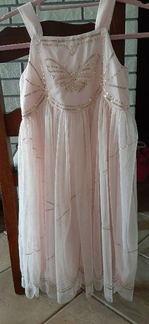 Śliczna sukienka wizytowa, wesele -H&M 128 nowa bez metki !!
