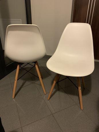Krzesła białe 2szt.