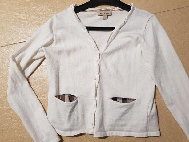 Burberry kremowy sweterek dziewczynka 10 lat oryginał