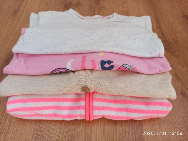 Zestaw na jesień polar, sweterek, koszulki 86-92