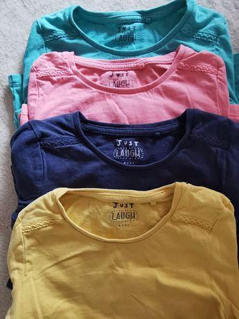 Next 4-pak bluzeczek bawełnianych z długim rękawem na 116 cm