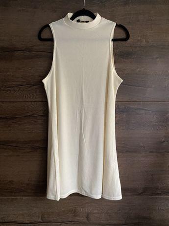 Bluzka długa tunika sukienka mini krótka golf w prążki stójką xxl xl