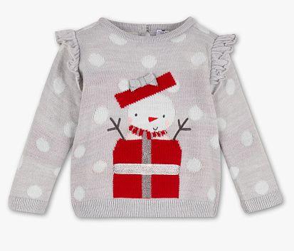 Nowy świąteczny sweterek bałwanek C&A 68 cm