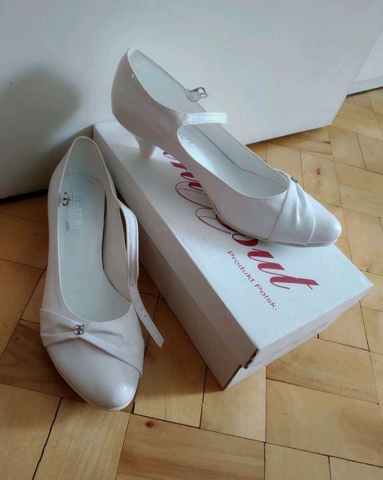 Buty ślubne białe 38 Marki - image 1