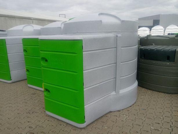 Zbiornik dwupłaszczowy do paliwa ON 2500 , 5000 L pompa filtr licznik