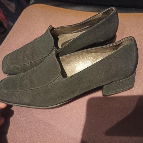 Czarnw buciki r 39 wkl 24,5cm
